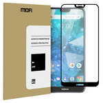 Full Coverage Tempered Glass Screen Protector for Nokia 7.1 - Black